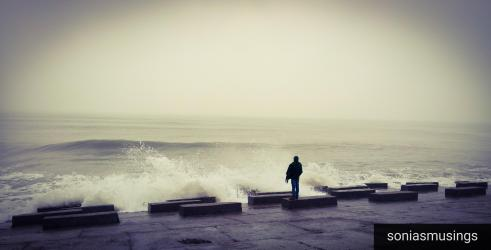 Lonely man and the sea