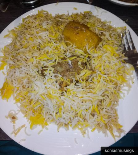 Aminia Biriyani with potato