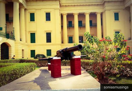Canon infront of Hazarduari Palace