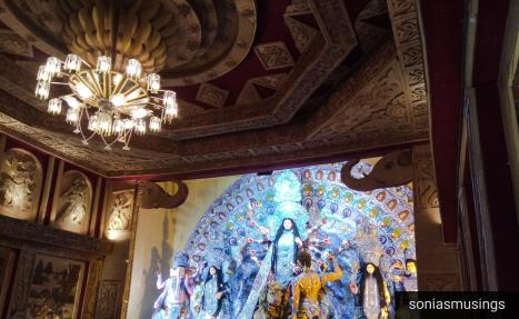 Durga Puja and pandal