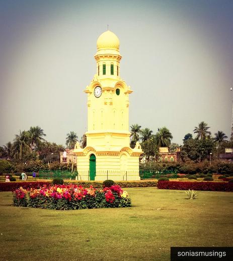 The clock house at Hazarduari Palace