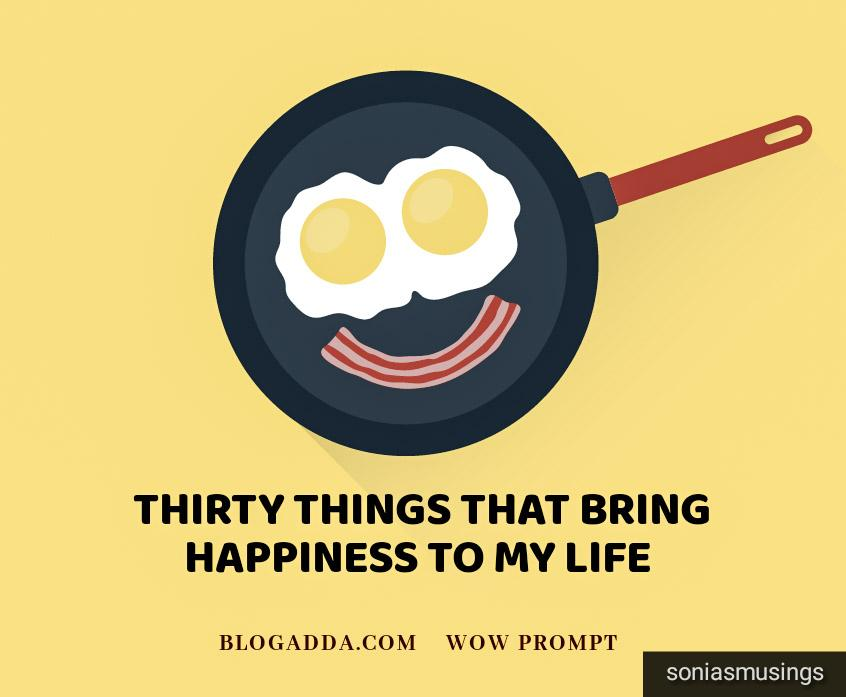 Thirty things that bring happiness to my life
