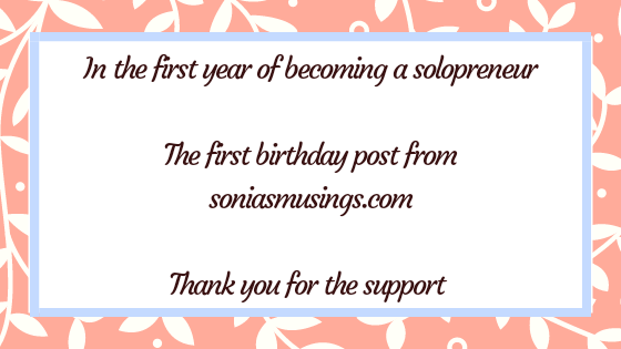 In the first year of becoming a solopreneur