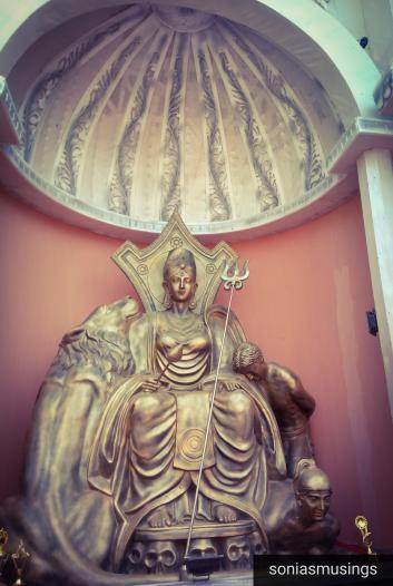 Ayodhyanagar Puja went beyond religion to create Durga idol on a Greek Goddess