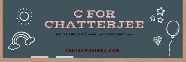 C for Chatterjee (or should I writeBanerjee?)
