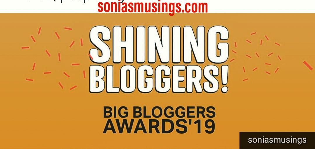 Winning the Shining Bloggers Award – 2019