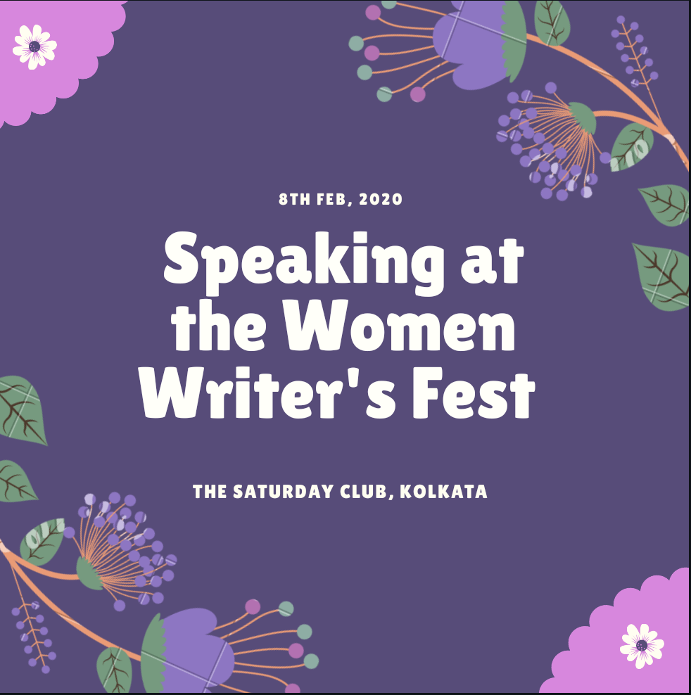 Speaking at the Women Writer's Fest in Kolkata