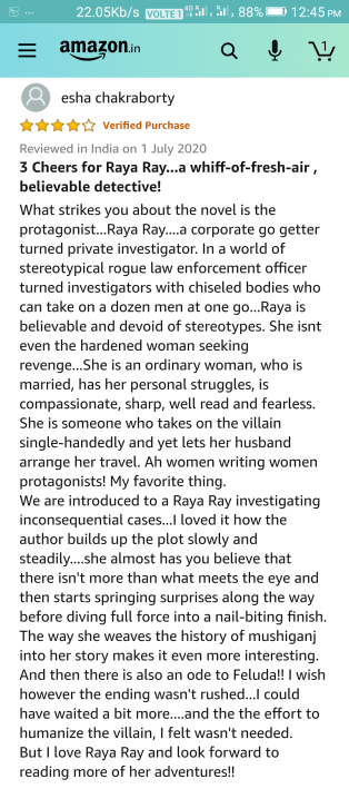 Review by Esha Chakraborty