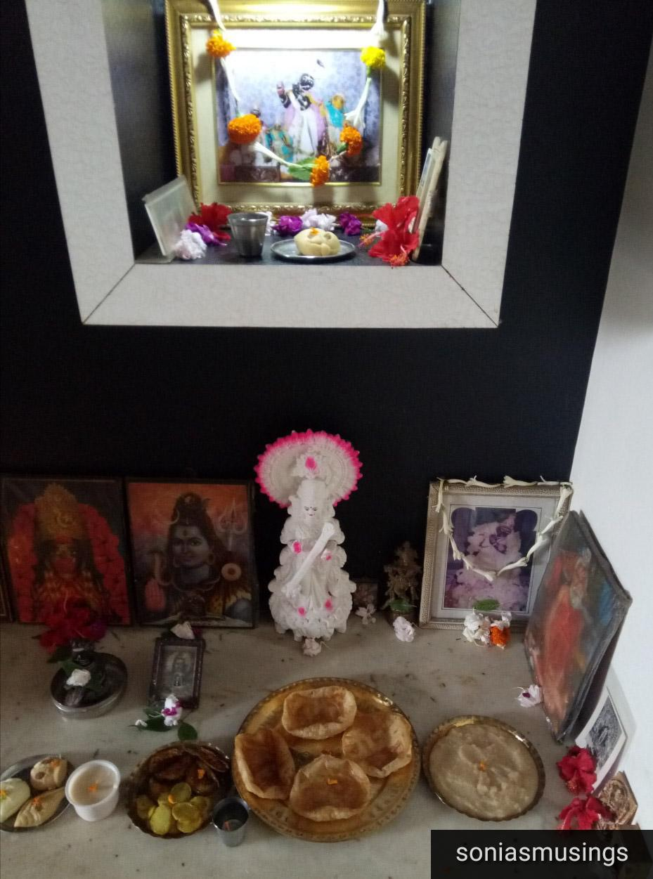 Puja at our Kolkata home